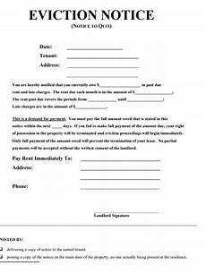 Eviction Notice Form Eviction Notice Forms 17 Free Printable Word Amp Pdf