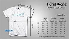 Asian Size Chart Standard Cut Asian Sizes Premuim Cotton Tshirtworkz