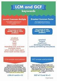 How To Use Keywords Lcm And Gcf Keywords For Word Problems Infographic By