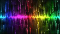 Heart And Lights 2015 Looping Rainbow Stars Falling Stock Footage Video 3671690