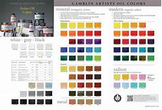 Synthetic Oil Color Chart Mineral And Modern Colors Painters Access To Color