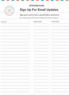 Email List Signup Sheet Free Printable Email Signup Sheet To Help You Grow Your