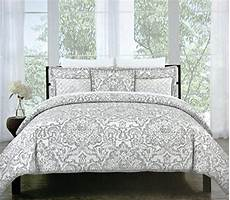 Light Grey Textured Duvet Cover Miller Vintage Damask Ornate Scroll Luxury Duvet