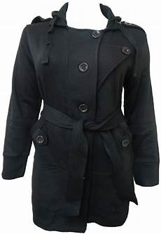 coats for size 16 plus size black belted hooded coat winter