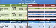 Excel Startup Template Download Startup Costs Calculator Excel Template