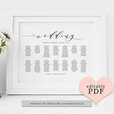 Template For Wedding Table Plan Seating Chart Printable Template Diy Wedding Table Plan