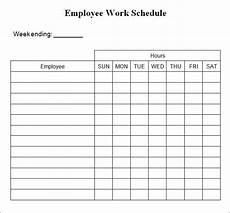 Free Weekly Work Schedule Template Excel Weekly Work Schedule Template 4 Free Word Excel