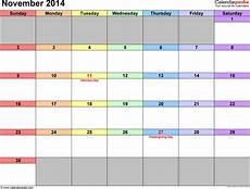 November Template November 2014 Calendar Templates For Word Excel And Pdf
