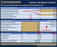 Budet Calculator Data Driven Facebook Ads Budget Calculator Free Download