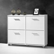 modern shoe storage cabinet in white with 4 doors 26810