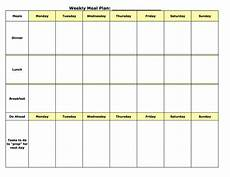 Dinner Plan Template Planning Templates On Pinterest Meal Planning
