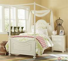 White Bed Canopy Traditional Antique White Poster Canopy Bed