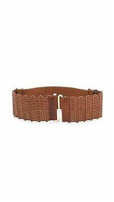 Tory Burch Belt Size Chart Tory Burch 3 Quot Braided Leather Stretch Belt Luggage
