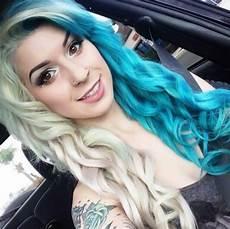 Half Pink Half Blue Half Half Blue Hair Dyed Hair Amp Pastel Hair