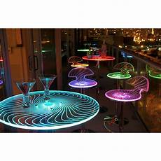 Under Table Led Lights Spyra Led Light Up Bar Table Furniture Accent Decor Party