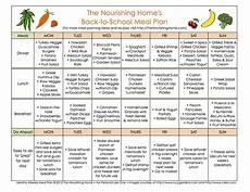 Meal Planner With Nutritional Information 1st Week Back To School Meal Plan The Nourishing Home