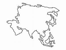 Continent Template Asia Pattern Use The Printable Outline For Crafts