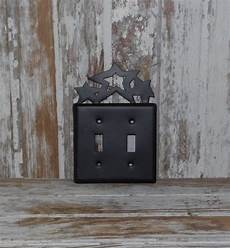 Cottage Light Switch Covers Black Star Metal Switch Plate Cover Double Primitive
