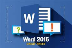 Miscrosoft Word Word 2016 Cheat Sheet Computerworld