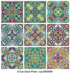 Southeast Asian Designs Vector Clipart Of Southeast Asian Art Design Set Of