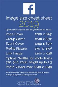 Facebook Banner Dimensions 2020 Social Media Cheat Sheet 2019 Must Have Image Sizes