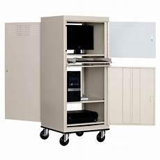 sandusky mobile computer security cabinet jg2663