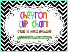 Chevron Behavior Clip Chart Black Amp White Chevron Behavior Clip Chart By