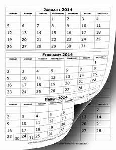Calendar Template 3 Months Per Page 2014 Calendar Three Months Per Page Free To Download And