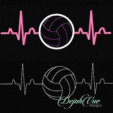 Cool Volleyball Designs Volleyball Ekg Design