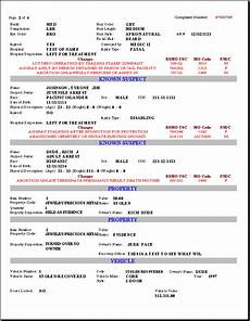 Law Enforcement Incident Report Form Printable Sample Police Report Template Form Report