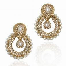 Earrings Design Images Buy Pearl Traditional Ethnic Indian Earring B332 Online