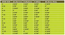 Wide Foot Measurement Chart Boot Size Guide