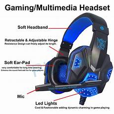 Gaming Headphones With Lights G2000 Pc Gaming Headphones Headset Usb 3 5mm Stereo