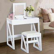 dressing table set cushioned stool flip up mirror makeup