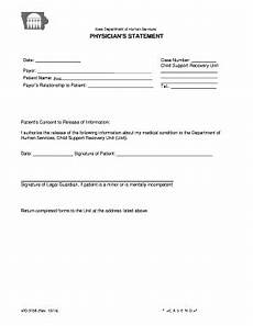 Doctors Statement Printable Physician Statement Of Incapacity Edit Fill