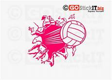Cool Volleyball Designs Cool Volleyball Designs Breaking Wall Decal Soccer Ball