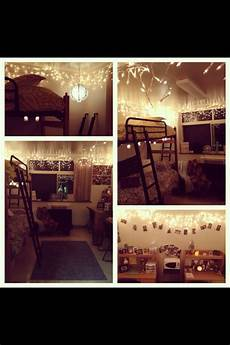 Christmas Lights Dorm Room Dorm Room Ideas Lights Decor Bunkbeds College Home