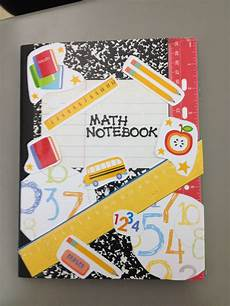 Cover Page For Notebook My Math Notebook Cover Soo Cute Math Notebooks Math