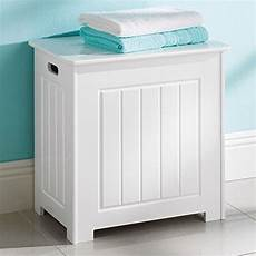 Costway Wooden Laundry Cabinet Bin Chest Storage Cupboard Home by White Her Clothes Storage Wooden Chest With Lid Laundry