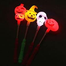 Light Up Halloween Accessories 4pc Pumpkin Ghost Finger Light Colorful Led Light Up Stick
