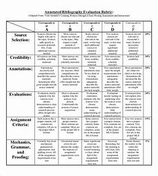 Annotated Bibliography Rubric Annotated Bibliography Templates 10 Free Word Pdf
