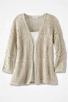 open crochet cardigan s sweaters coldwater creek
