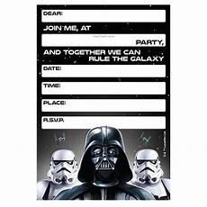 Star Wars Birthday Party Invitations Star Wars Classic Invitations 8 Pack Big W