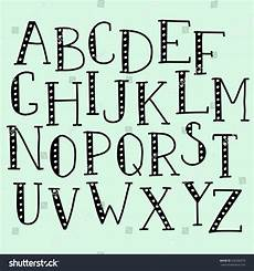 Cool Fonts To Draw On A Poster Vector Doodle Alphabet Vector Simple Hand Stock Vector