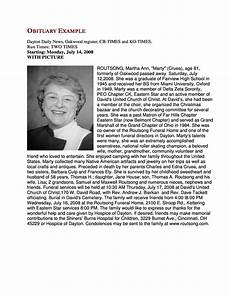 Example Obituary 25 Obituary Templates And Samples ᐅ Templatelab
