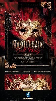 Masquerade Poster Template Masquerade Ball Party Flyer Masquerade Ball Party