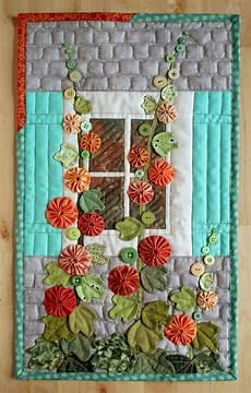 applique patchwork patchworkpottery hollyhocks