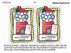 Gum Chart Bubble Gum Jar Reading Incentive Charts And Reward By Ms