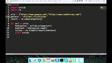 How To Quote A Website Extract Title Of Website Using Python Script Youtube