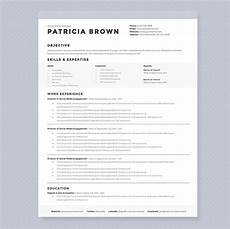 Clean Resume Template Free Clean Resume Template Pkg Resume Templates Creative